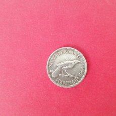 Monedas antiguas de Oceanía: 6 PENIQUES DE NUEVA ZELANDA 1944. PLATA. Lote 221438577