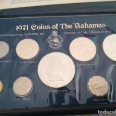 Monedas antiguas de Oceanía: SET MONEDAS DE PLATA BAJAMAS 1971, 5 DOLLAR. Lote 221911130