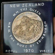 Monedas antiguas de Oceanía: 05B. CONMEMORATIVA. 315.000 EJEMPLARES NUEVA ZELANDA. 1 DOLLAR 1970. Lote 221911530