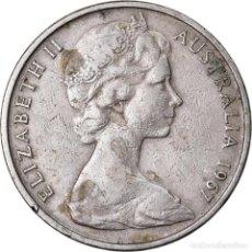 Monedas antiguas de Oceanía: MONEDA, AUSTRALIA, ELIZABETH II, 20 CENTS, 1967, MELBOURNE, BC+, COBRE -. Lote 222632420