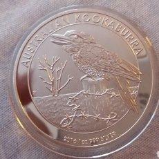 Monedas antiguas de Oceanía: PRECIOSA MONEDA KOOKABURRA 2016 1 ONZA PLATA. Lote 222689665