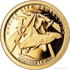 Monedas antiguas de Oceanía: MONEDA, PALAOS, LE REQUIN- MARTEAU, DOLLAR, 2010, CIT, BE, FDC, ORO, KM:315. Lote 222723411