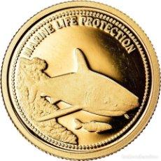 Monedas antiguas de Oceanía: MONEDA, PALAOS, LE REQUIN GRIS, DOLLAR, 2008, BE, FDC, ORO, KM:163. Lote 222723486