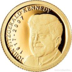 Monedas antiguas de Oceanía: MONEDA, PALAOS, JOHN FITZGERALD KENNEDY, 1 DOLLAR, 2007, BE, FDC, ORO, KM:NEW. Lote 222723491