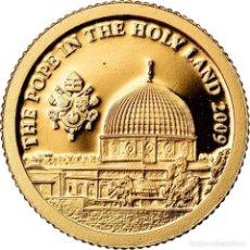 Monedas antiguas de Oceanía: MONEDA, ISLAS COOK, ELIZABETH II, LE PAPE EN TERRE SAINTE, DOLLAR, 2009, CIT. Lote 222723541
