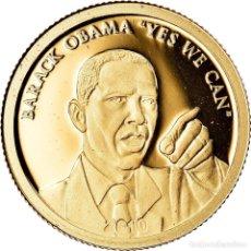Monedas antiguas de Oceanía: MONEDA, ISLAS COOK, ELIZABETH II, BARACK OBAMA, 10 DOLLARS, 2010, CIT, BE, FDC. Lote 222724917