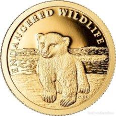Monedas antiguas de Oceanía: MONEDA, ISLAS COOK, ELIZABETH II, OURS POLAIRE, 10 DOLLARS, 2008, FRANKLIN MINT. Lote 222725056