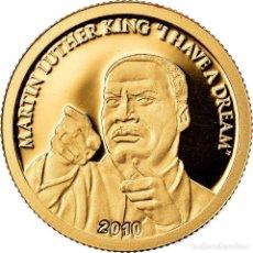 Monedas antiguas de Oceanía: MONEDA, ISLAS COOK, ELIZABETH II, MARTIN LUTHER KING, 10 DOLLARS, 2010, CIT, BE. Lote 222725262