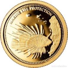 Monedas antiguas de Oceanía: MONEDA, PALAOS, POISSON-LION ROUGE, DOLLAR, 2009, CIT, BE, FDC, ORO, KM:234. Lote 222725940