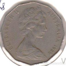 Monedas antiguas de Oceanía: MONEDA DE 50 CENTS (CENTAVOS) AUSTRALIA 1980 EBC. Lote 223401573