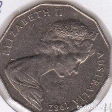 Monedas antiguas de Oceanía: MONEDA 50 CENTS (CENTAVOS) AUSTRALIA, JUEGOS COMMONWELTH BRISBANE 1982. Lote 223417456