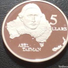 Monnaies anciennes d'Océanie: AUSTRALIA 5 DÓLARES DE PLATA PROOF 1993 (ABEL TASMAN). Lote 223637103
