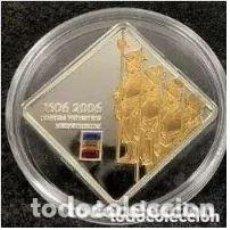 Monedas antiguas de Oceanía: MONEDA DE PLATA CON SWAROVSKI ISLAS COOK - 5 DÓLARES, 2006, 500 AÑOS DE LA GUARDIA SUIZA. Lote 224248166