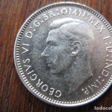 Monedas antiguas de Oceanía: AS-AUSTRÁLIA 6 PENCE 1935 PRATA. Lote 224690561