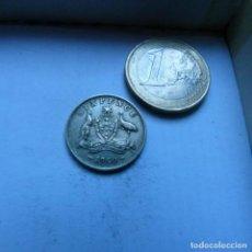 Monedas antiguas de Oceanía: MONEDA DE PLATA DE 6 PENIQUES DE AUSTRALIA AÑO 1960. Lote 225585753