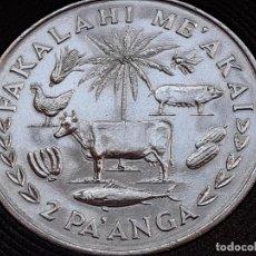 Monedas antiguas de Oceanía: TONGA 2 PA'ANGA 1975. Lote 226249465