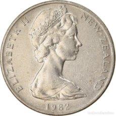Monedas antiguas de Oceanía: MONEDA, NUEVA ZELANDA, ELIZABETH II, 20 CENTS, 1982, MBC, COBRE - NÍQUEL. Lote 227918720
