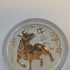 Monedas antiguas de Oceanía: MONEDA PLATINO OX (BUEY) ROYAL MINT AUSTRALIA 1 OZ 2021 #002. Lote 228062770