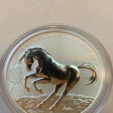 Monedas antiguas de Oceanía: MONEDA 1 OZ PLATA AUSTRALIAN STOCK HORSE EDICION LIMITADA CON CERTIFICADO. Lote 229265405
