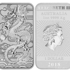 Monedas antiguas de Oceanía: AUSTRALIA, LINGOTES DRAGON RECTANGULAR PROOF. Lote 232065945