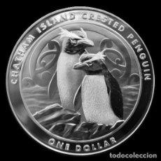 Monedas antiguas de Oceanía: MONEDA DE PLATA CHATHAM 2020 1 ONZA. Lote 233375055