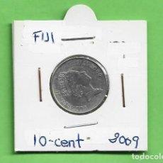 Monnaies anciennes d'Océanie: FIJI. 10 CENT 2009. ACERO BAÑADO EN NÍQUEL. KM#120. Lote 233732245