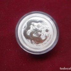 Monnaies anciennes d'Océanie: AUSTRALIA. MEDIA ONZA DE PLATA 2012. Lote 233738295
