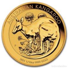 Monedas antiguas de Oceanía: MONEDA DE ORO CANGURO 2021 DE 1/10 ONZA. Lote 233851020