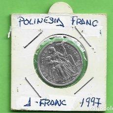 Monnaies anciennes d'Océanie: POLINESIA FRANCESA. 1 FRANC 1997. ALUMINIO. KM#11. Lote 234276370