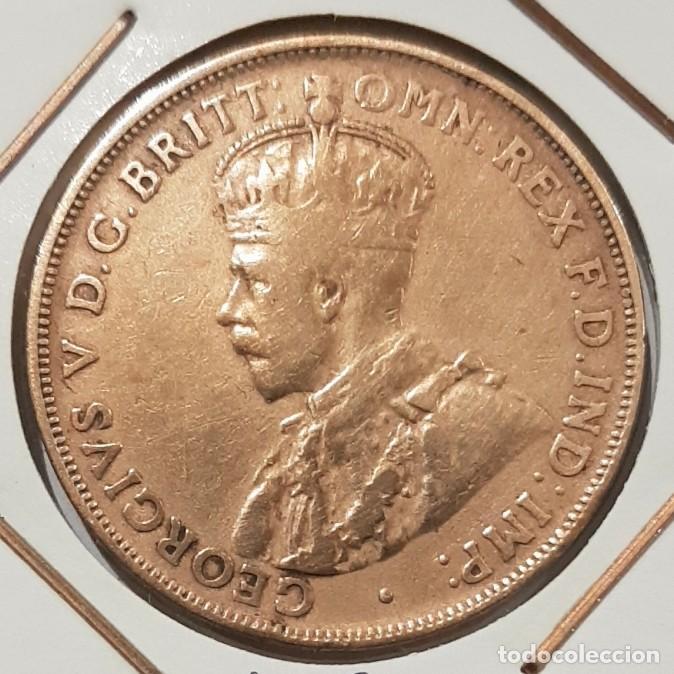 Monedas antiguas de Oceanía: AUSTRALIA, ONE PENNY, DEL 1920. ORIGINAL. - Foto 2 - 234409280