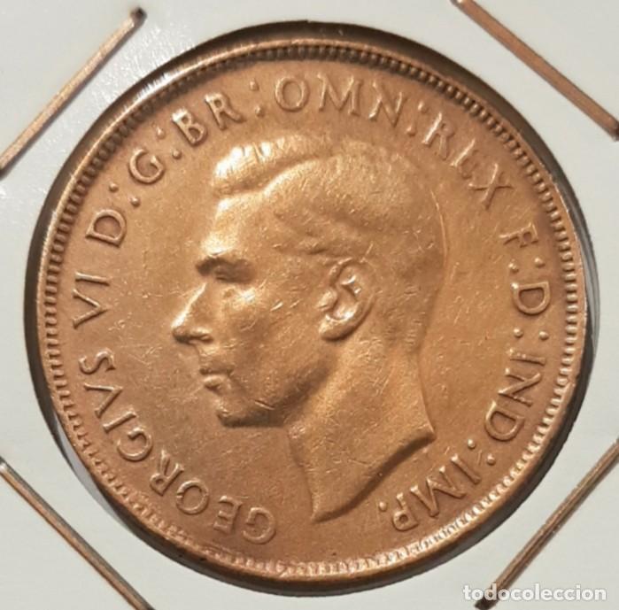 Monedas antiguas de Oceanía: AUSTRALIA, 1 PENNY, DEL 1943. ORIGINAL. - Foto 2 - 234409475
