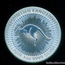 Monete antiche di Oceania: AUSTRALIA - CANGURO DE PLATA 2019 - 1 DOLAR / 1 ONZA PLATA PURA / 999 MILESIMAS - SIN CIRCULAR. Lote 234529310