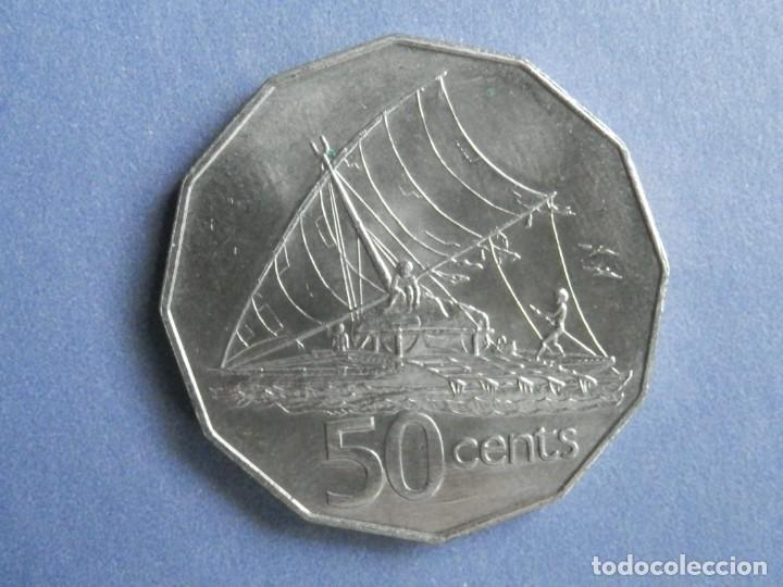 ISLAS FIJI MONEDA 50 CENTS AÑO 1987 CONSERVACIÓN = MBC (Numismática - Extranjeras - Oceanía)