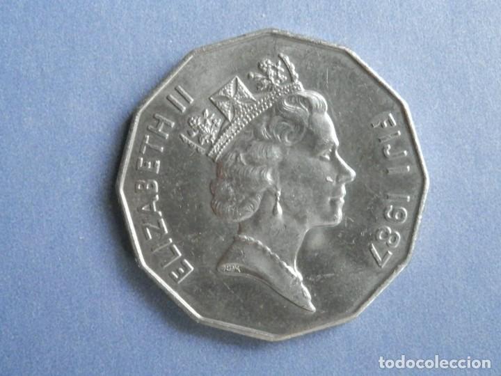 Monedas antiguas de Oceanía: ISLAS FIJI MONEDA 50 CENTS AÑO 1987 CONSERVACIÓN = MBC - Foto 2 - 235231785
