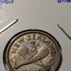 Monete antiche di Oceania: MONEDA PLATA NUEVA ZELANDA. 3 PENIQUES 1940. JORGE VI. Lote 235319995