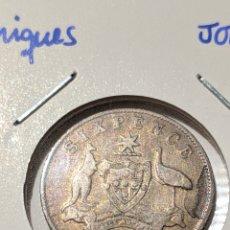 Monete antiche di Oceania: MONEDA PLATA AUSTRALIA. 6 PENIQUES 1911. JORGE V. Lote 235325870