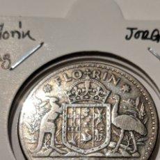 Monete antiche di Oceania: MONEDA PLATA AUSTRALIA. FLORÍN 1946. JORGE VI. Lote 235326375