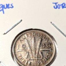 Monedas antiguas de Oceanía: MONEDA PLATA AUSTRALIA. 3 PENIQUES 1943. JORGE V. Lote 235327375