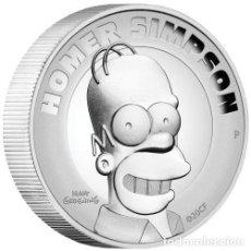 Monedas antiguas de Oceanía: TUVALU 2021 - LOS SIMPSONS - HOMER SIMPSON - 2 DÓLARES MONEDA PLATA 2 ONZAS ALTO RELIEVE. Lote 235356680