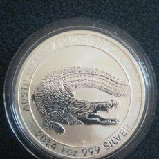 Monedas antiguas de Oceanía: MONEDA 1 DOLLAR AUSTRALIA 2014 CROCODILE PLATA 999 31 GR. Lote 235874040