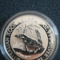 Monedas antiguas de Oceanía: MONEDA 1 DOLLAR AUSTRALIA 1992 KOOKABURRA PLATA 999. Lote 235874505
