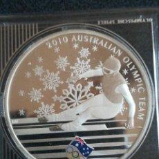 Monedas antiguas de Oceanía: MONEDA 1 DOLLAR AUSTRALIA 2010 OLIMPIC TEAM PLATA 999. Lote 235977625