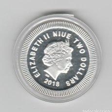 Monedas antiguas de Oceanía: NIUE- 2 DOLARES-2018- 1 ONZA- PLATA-PROF- BUHO. Lote 236741620