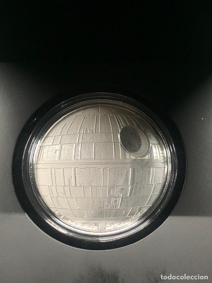 Monedas antiguas de Oceanía: Onza de plata Star Wars Estrella de la muerte edición limitada 5000 uds - Foto 3 - 237022315