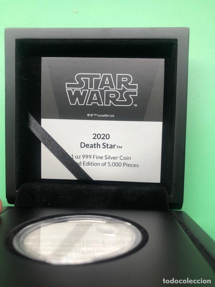 Monedas antiguas de Oceanía: Onza de plata Star Wars Estrella de la muerte edición limitada 5000 uds - Foto 4 - 237022315