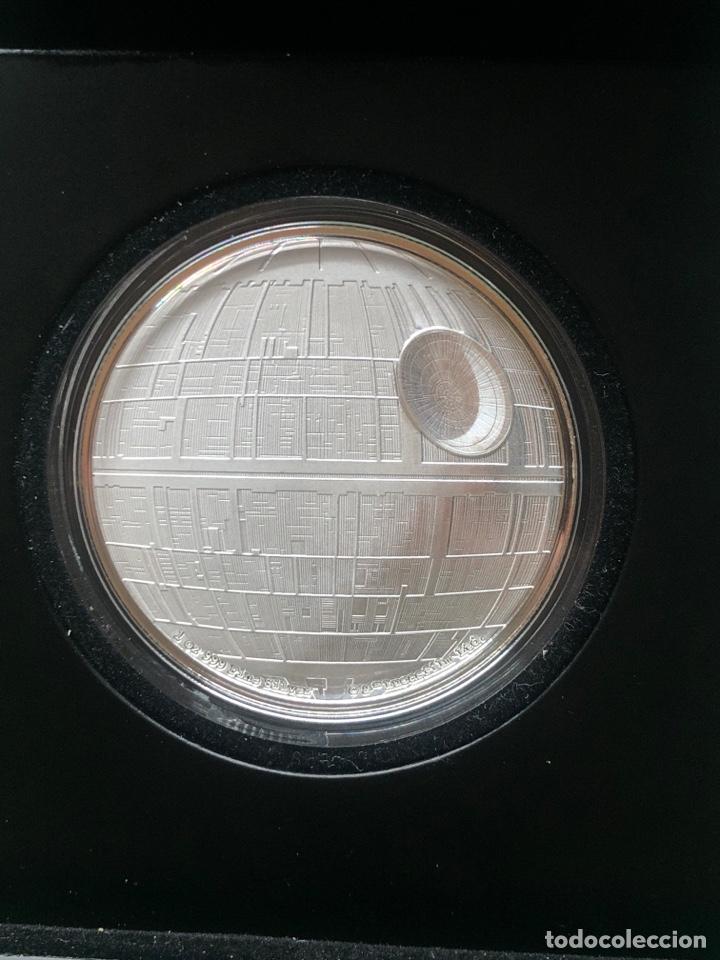Monedas antiguas de Oceanía: Onza de plata Star Wars Estrella de la muerte edición limitada 5000 uds - Foto 6 - 237022315