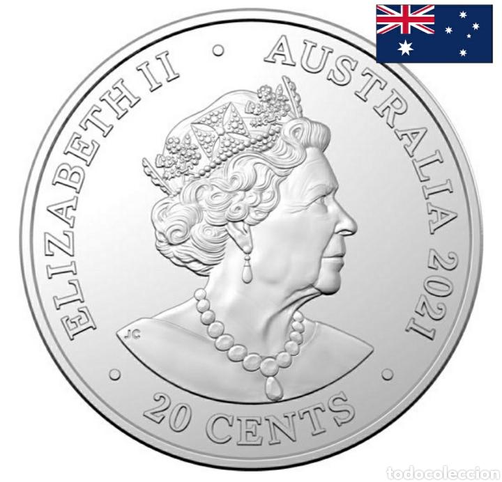 "Monedas antiguas de Oceanía: Moneda disco 20c ACDC.Australia.Conmemorativa 40° aniversario ""For those about to rock"" - Foto 2 - 239909615"