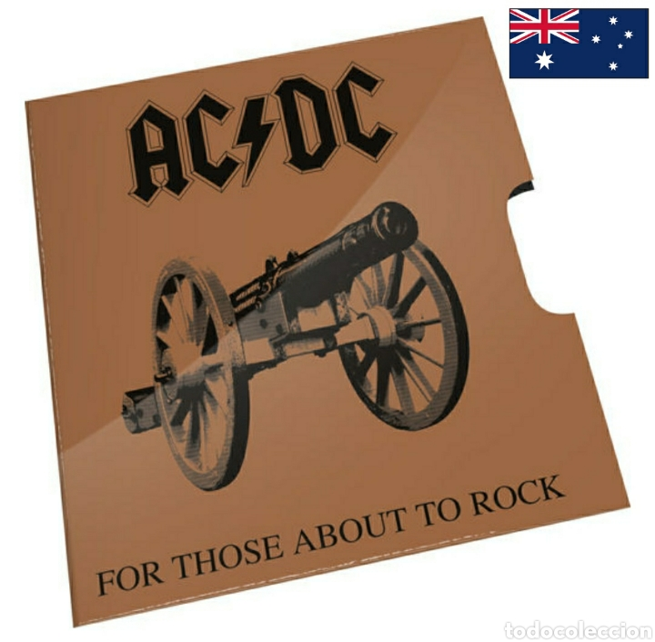 "Monedas antiguas de Oceanía: Moneda disco 20c ACDC.Australia.Conmemorativa 40° aniversario ""For those about to rock"" - Foto 3 - 239909615"