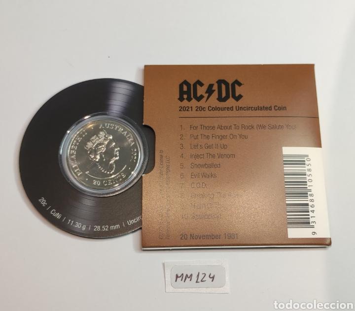 "Monedas antiguas de Oceanía: Moneda disco 20c ACDC.Australia.Conmemorativa 40° aniversario ""For those about to rock"" - Foto 5 - 239909615"