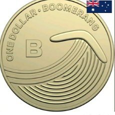 Monedas antiguas de Oceanía: 1 DÓLAR BOOMERANG.AUSTRALIA DE LA A A LA Z.BLISTER PRESENTACIÓN.DORADA.. Lote 240000410